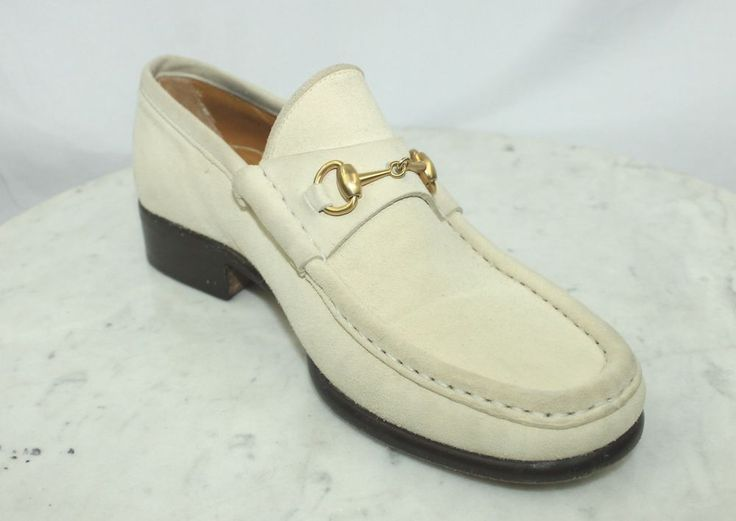GUCCI SUEDE LEATHER HORSEBIT BUCKLE LOAFER FLAT SHOES 35 C in Clothing,  Shoes & Accessories