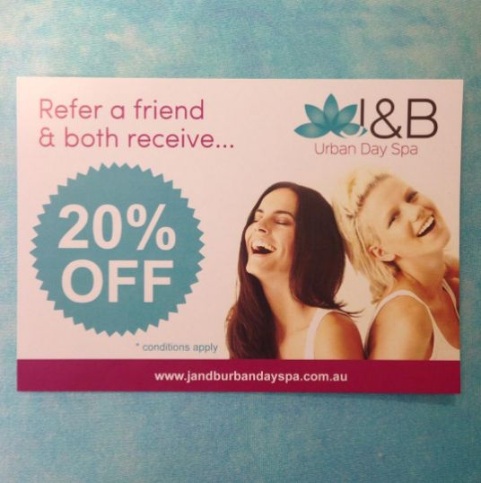 Receive 20% off your next appointment by 1. Must be following us. 2. Like, share 3. Refer a friend so you both can receive 20% OFF! Show your post at the desk at beginning of treatment ! #jandburbandayspa 20% #off excluded #Botox & products. #referafriend #repost #Victoria #Mictham #London