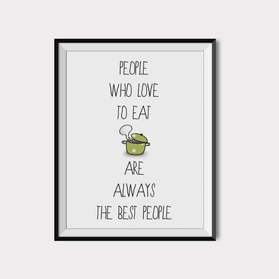 Love food poster Kitchen wall decor Printable food by 2eggsProject