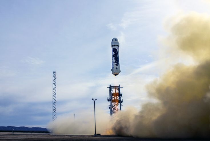 Blue Origin got their BE-3 rocket to a height of 5,000 feet, then landed it without breaking anything //