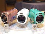 JVC、世界最小AVCHDビデオカメラ「BabyMovie」スタンド内蔵/抗菌