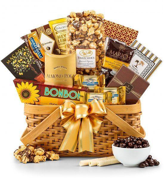 50 Year Anniversary Gift Ideas Part - 39: Golden Anniversary Gift Basket - 50th Anniversary