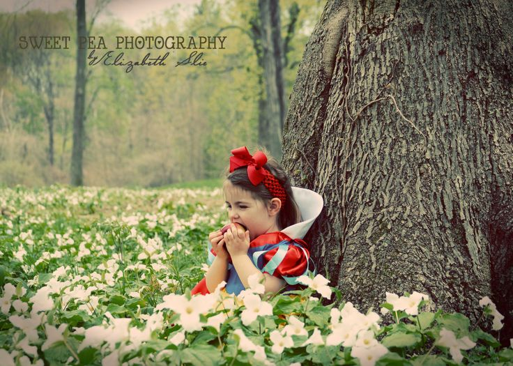 Snow White Fairy Tale Photo shoot. Toddler Girl Photo shoot ideas. 2 year Old…