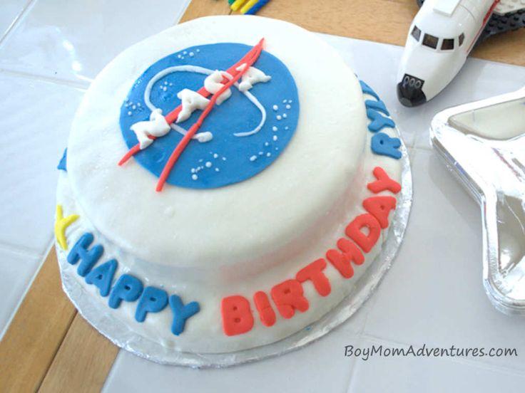 NASA Logo Birthday Cake BoyMomAdventures.com