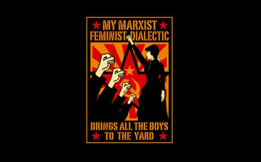 My marxist feminist dialectic brings all the boys to the yard....Order this shirt here: http://su.pr/ADGXT6: Tshirthell Com