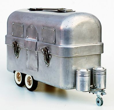 Airstream Lunchbox - It is a Vintage Heavy Duty aluminum lunch box