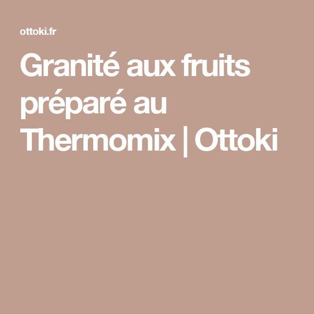 Granité aux fruits préparé au Thermomix | Ottoki
