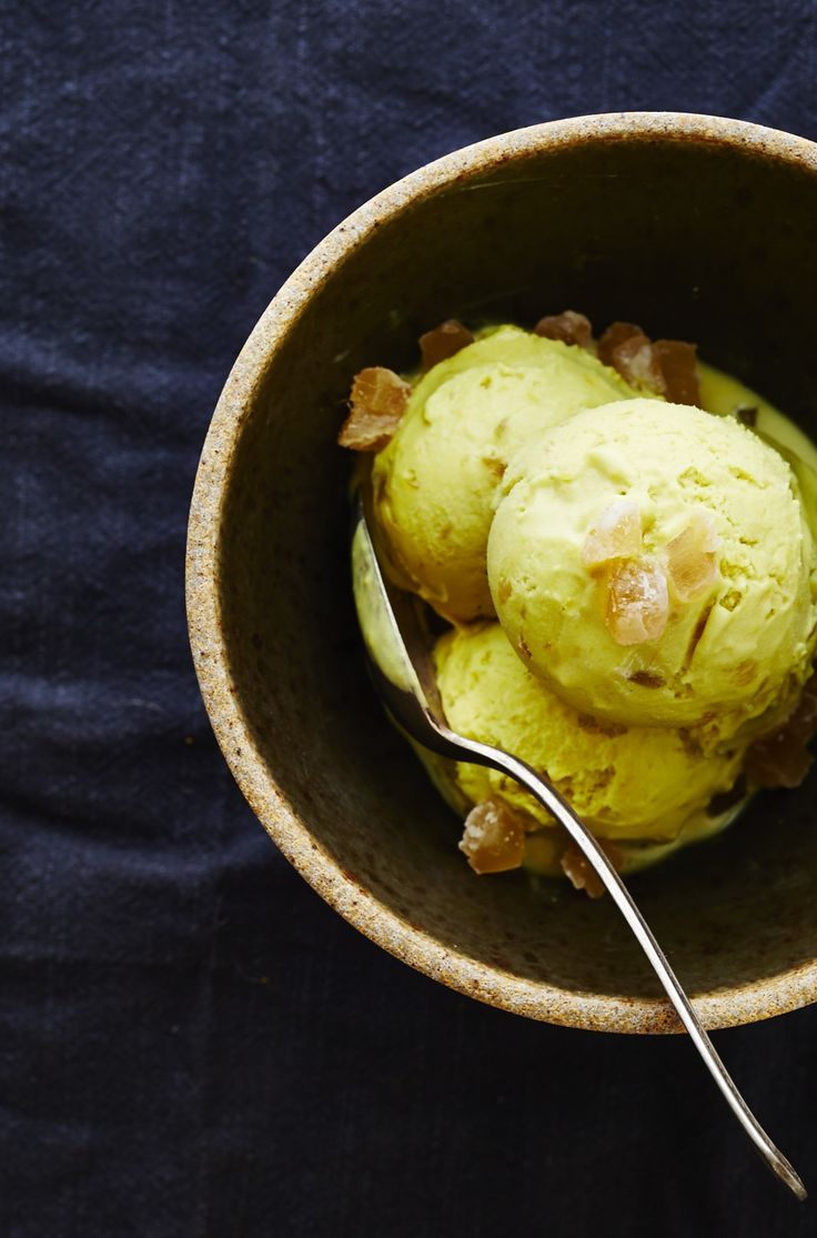 TURMERIC & CANDIED GINGER ICE CREAM (Dairy-free) — SK