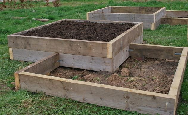raised garden bed plans | Well, the plan was to make one smallish raised bed at home and one at ...