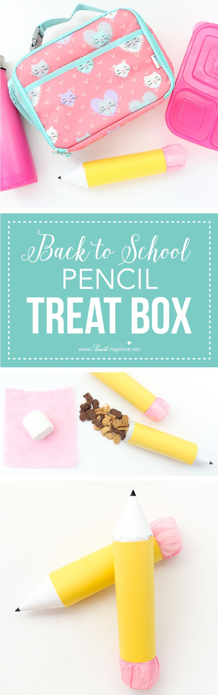 Back to school pencil treat boxes ...send a special treat to school in these fun DIY pencil boxes.