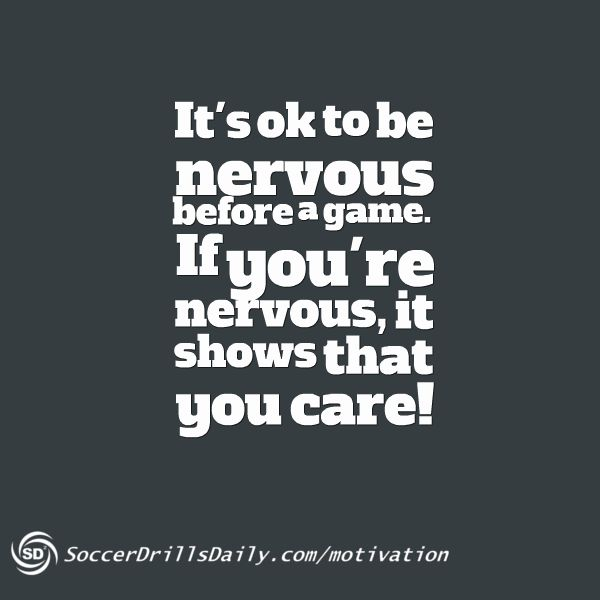 Soccer Blog Post - How to Respond if You're Nervous Before a Game