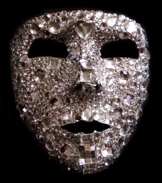 Jewelled Full Face Mask