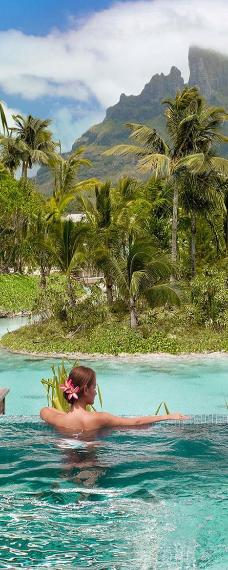 Go to the Four Seasons in Bora Bora