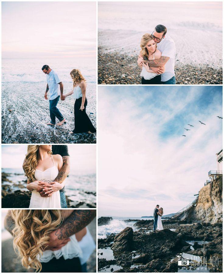 hipster engagement photos, tattoo wedding, tattoo engagemenphotos, beach…