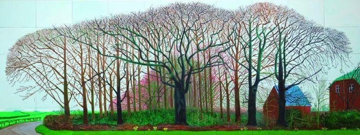 David Hockney, Bigger Trees Near Warter, 2007.