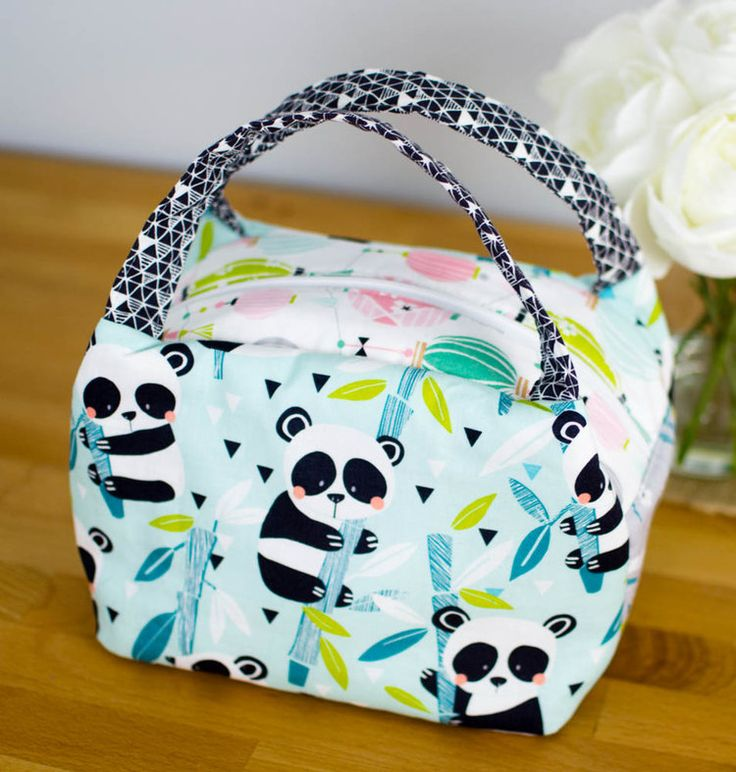 Show Off Saturday... a new Chubby Lunch Tote in Panda-rama — SewCanShe   Free Daily Sewing Tutorials