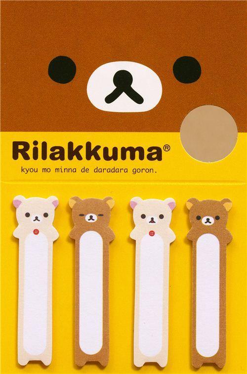 Rilakkuma & Korilakkuma bear Post-it bookmark sticker