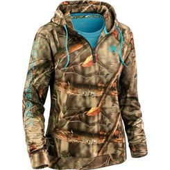 The perfect go-anywhere hoodie in all EVO Camo, Pink or Oak Tree. Features a mid-weight smooth finish 100% poly fleece with a silky soft brushed interior for ultimate comfort and a half zip for easy on-off. This one will quickly become your go-to hoodie!