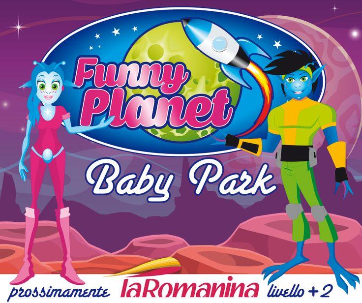 Funny Planet sta per arrivare.  Presto, nel nostro centro commerciale, Funny Planet, il Baby park dove il divertimento spaziale è assicurato. Il posto ideale per feste di compleanno, disco party, cinema party, baby shower, battesimi e comunioni. Animazione / Candy Corner / Funny Pizza Al livello +2 del #cclaromanina