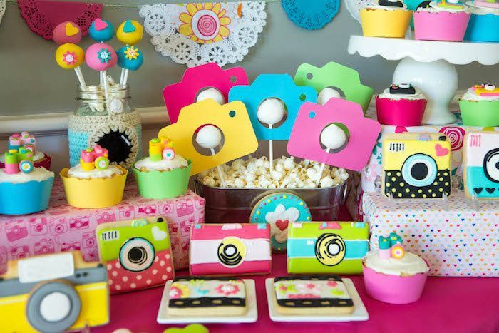 Photography + Instagram Camera Themed Birthday Party at Kara's Party Ideas. See more at karaspartyideas.com!