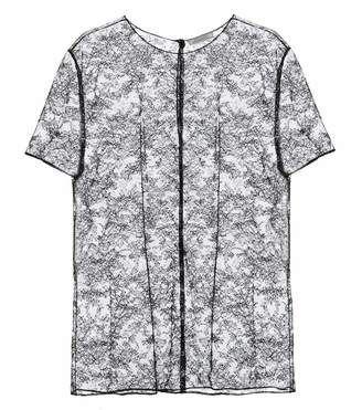 Nina Ricci Sheer lace T-shirt - Shop for women's T-shirt -  T-shirt