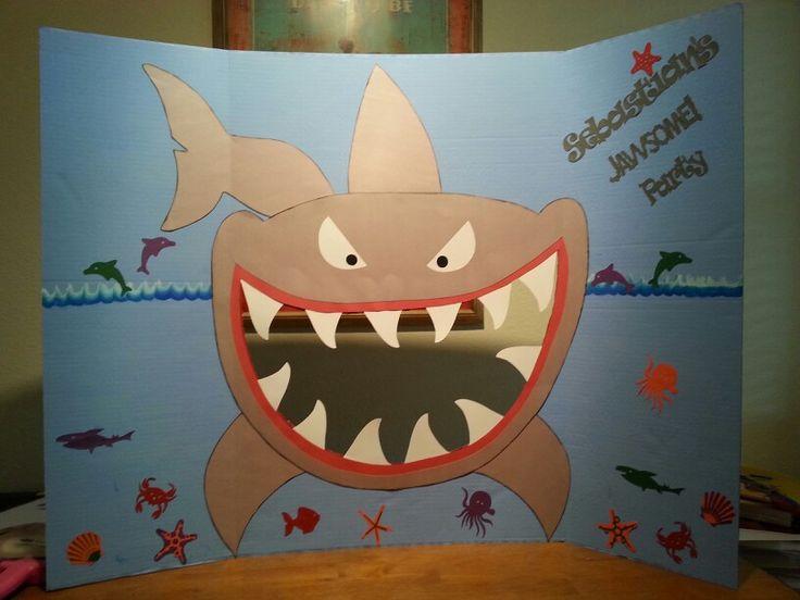 Shark photo booth prop