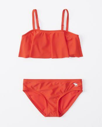 bandeau flounce two-piece swimsuit