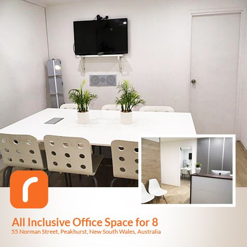 All inclusive Office Space for 8 People in Peakhurst, NSW. Only $1,196 a month