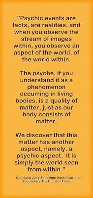 Psychic events are facts, are realities, and when you observe the stream of images within, you observe an aspect of the world, of the world ...