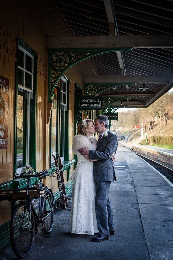 A Vintage Inspired Wedding at a Steam Railway on http://whimsicalwonderlandweddings.com