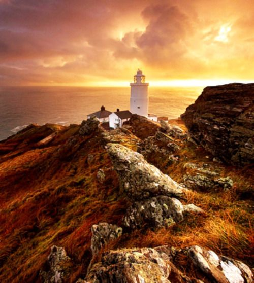 A promontory in Cornwall, England. Cornwall is Celtic and mystical and exists in its own dimension. (Paul Forghum beautyineverything.com)