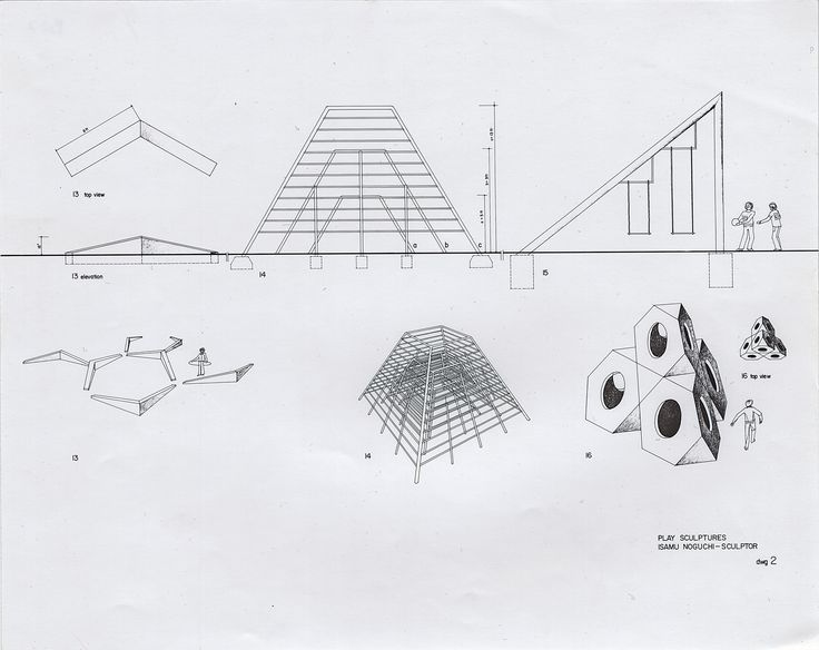 Drawing by #IsamuNoguchi for a series of Play Sculptures