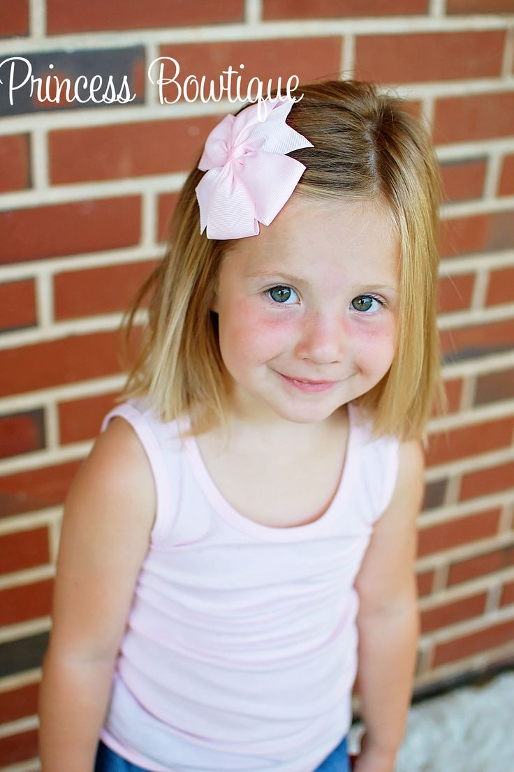 Hair bow pink 4 inch bow on clip little girl hairstyles