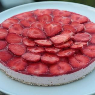 Sund og proteinrig cheesecake