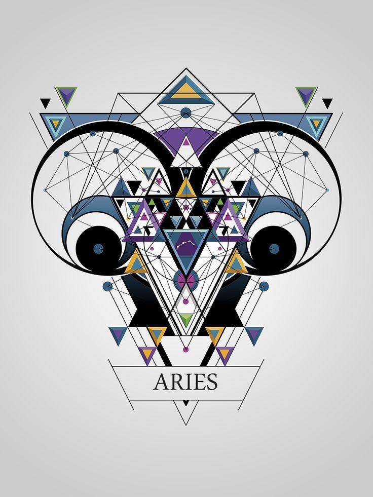 diseño del signo de aries https://www.behance.net/gallery/16305455/ZODIACO-(ZODIAC)