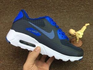 best cheap 7d669 bb560 Mens Nike Air Max 90 Ultra Essential Dark Obsidian Blue Ocean 819474 405  Running Shoes