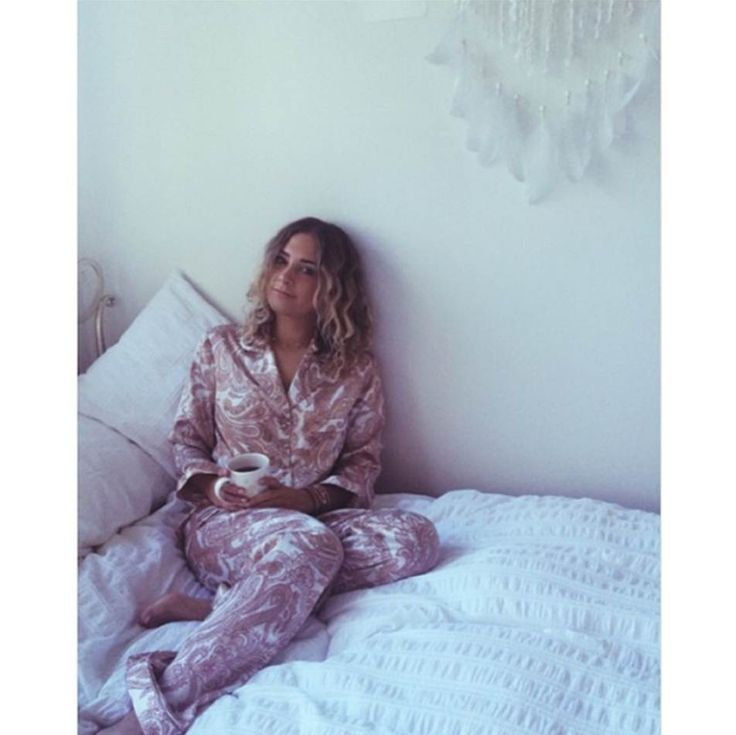 Brittany Cairs wearing Gingerlilly Sleepwear in support of The Pyjama Foundation