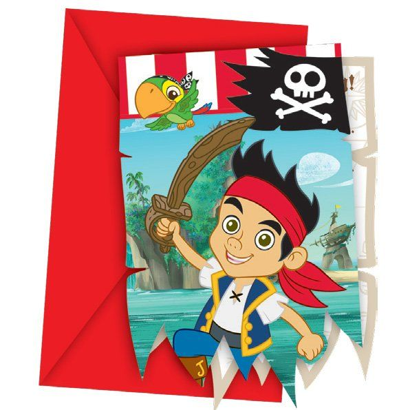 Images : 6 Invitations Jake le Pirate