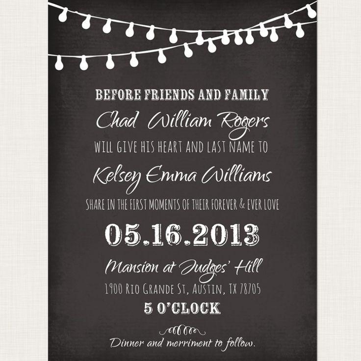 Chalkboard Wedding Invitation Template: Chalkboard Wedding Invitation Templates