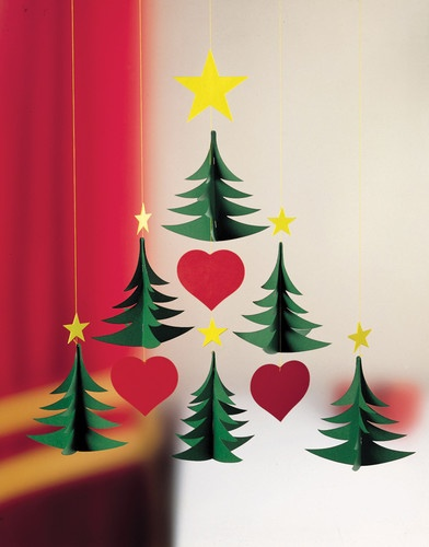 Flensted Mobiles - Christmas Tree 6 modern holiday decorations