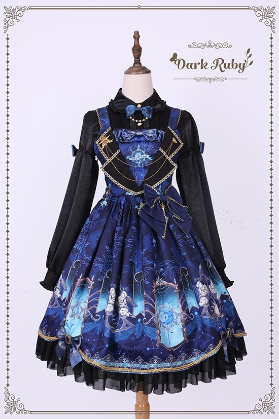 a597dec9d2 Dark Ruby -Astrology- Sweet Lolita Collar JSK. Find this Pin and ...