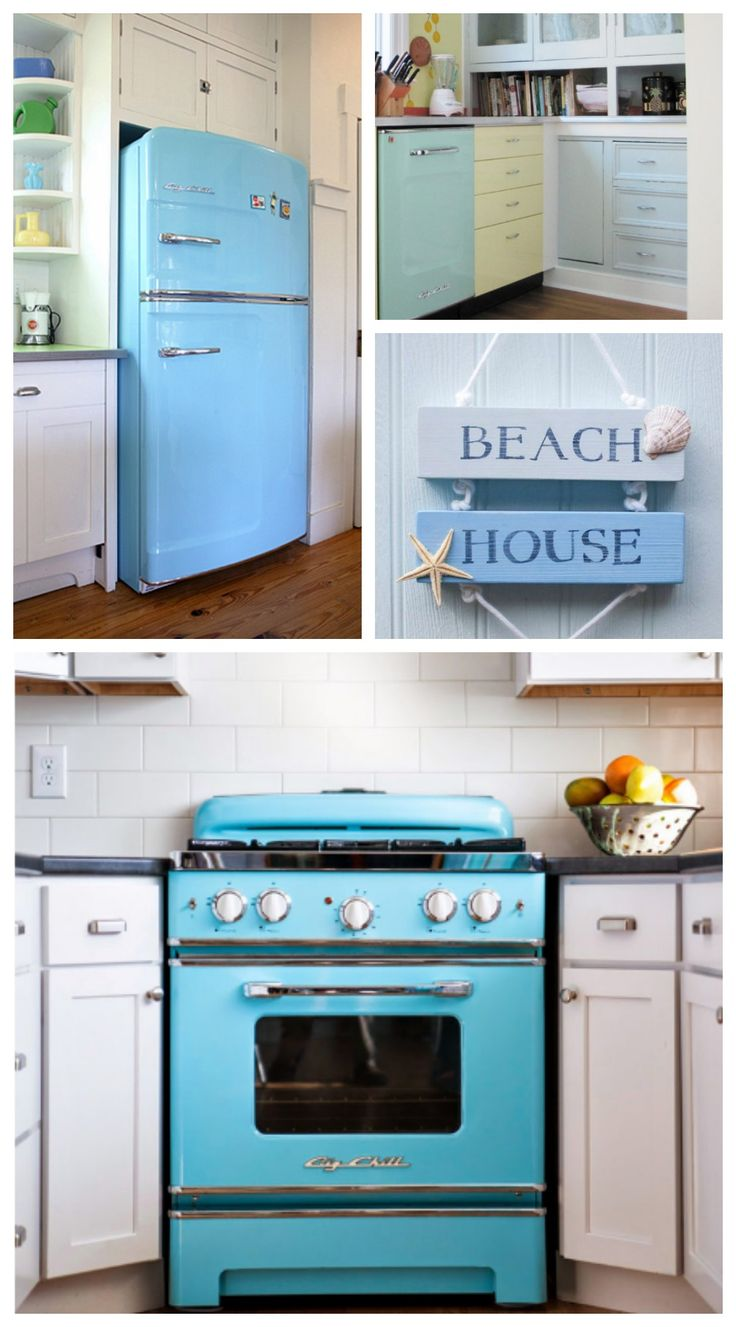 How to choose kitchen appliance colors - Big Chill Retro Appliances In Beach Blue Love Color We Have Over 200 Colors