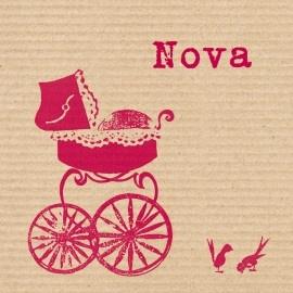 geboortekaartje Nova, nostalgie in een modern jasje