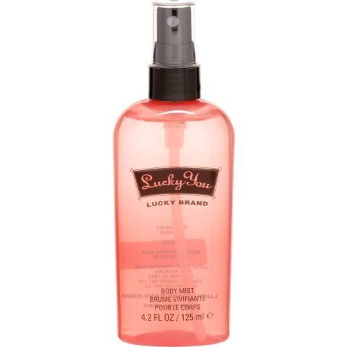 Lucky You By Lucky Brand For Women. Body Mist Spray 4.2 Oz / 125 Ml by Lucky Brand. $8.50. Packaging for this product may vary from that shown in the image above. LUCKY YOU by Liz Claiborne for WOMEN BODY MIST 4.2 OZ Launched by the design house of Liz Claiborne in 2000, LUCKY YOU by Liz Claiborne possesses a blend of fresh citrus with light flowers and lower notes of sandalwood, amber and musk.. It is recommended for daytime wear.