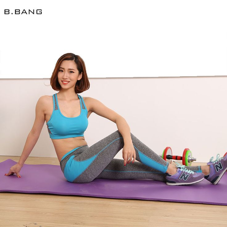 B.BANG 2016 Women Yoga Sets Patchwork Clothes Suits Sport Bra Running Gym Fitness Clothing Sports Tops and Elastic Capris => Save up to 60% and Free Shipping => Order Now! #fashion #product #Bags #diy #homemade