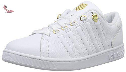 K-Swiss Lozan III TT Mtllc, Sneakers Basses Femme, Blanc (Whitel/Gold), 35.5 EU