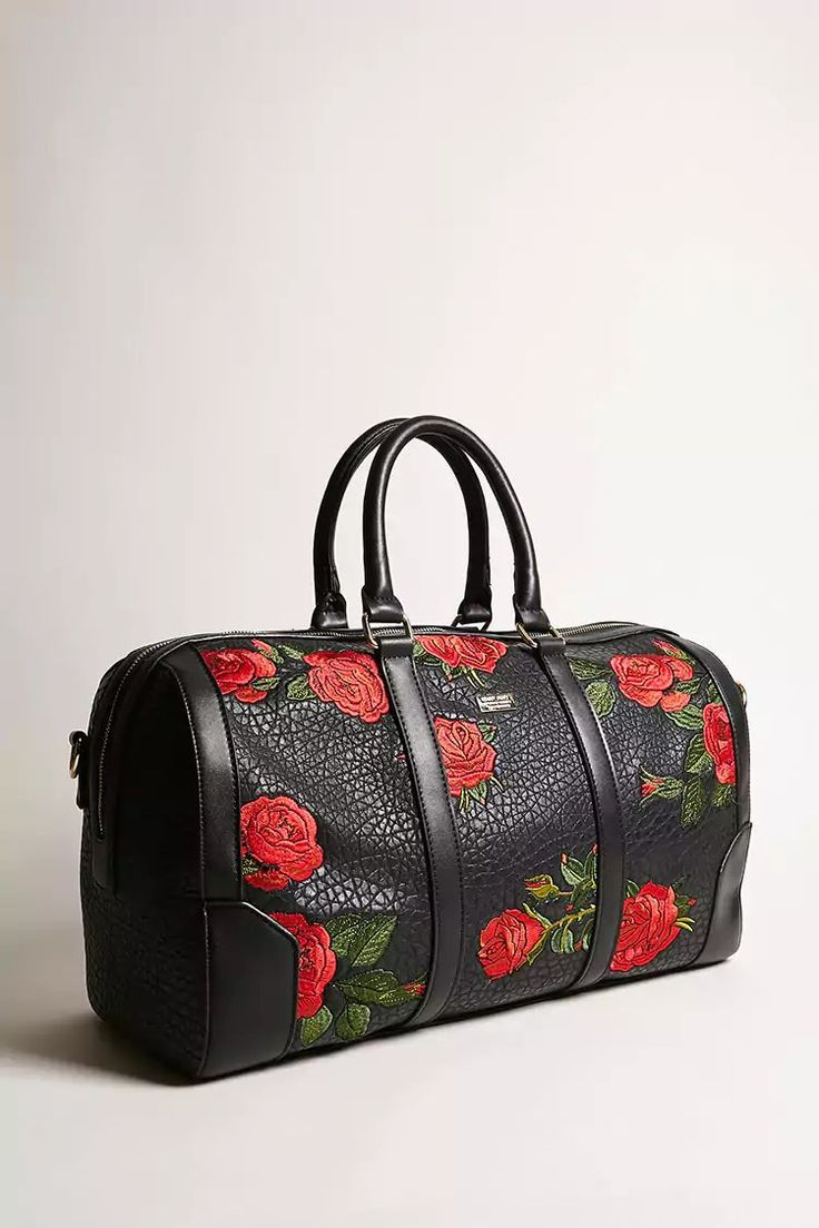 Product Name:Men Reason Rose Faux Leather Duffle Bag, Category:CLEARANCE_ZERO, Price:90