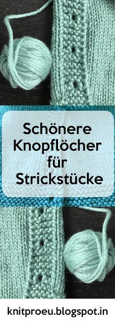 Knit Pro Germany: Nicer buttonholes for knitwear