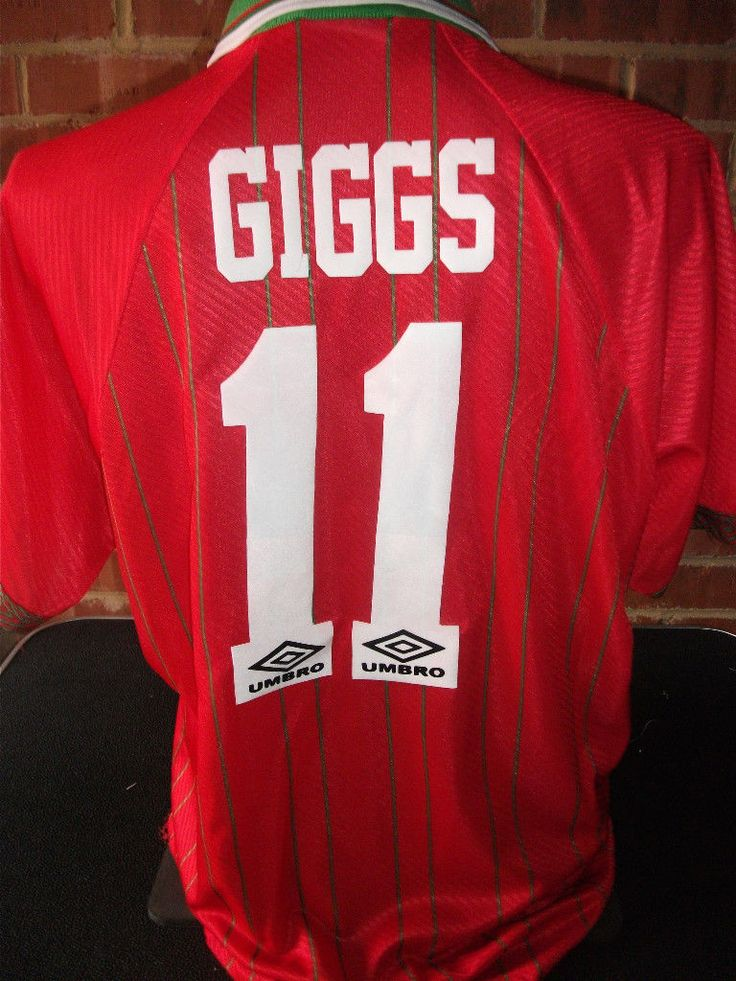 Ryan Giggs #11 Wales 1994-1996 Home Football Shirt XL adult (4784) | eBay