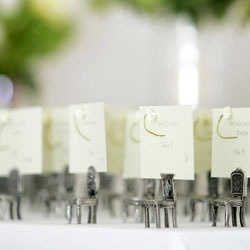 Pewter, Antique Place Chair Place Card Holders